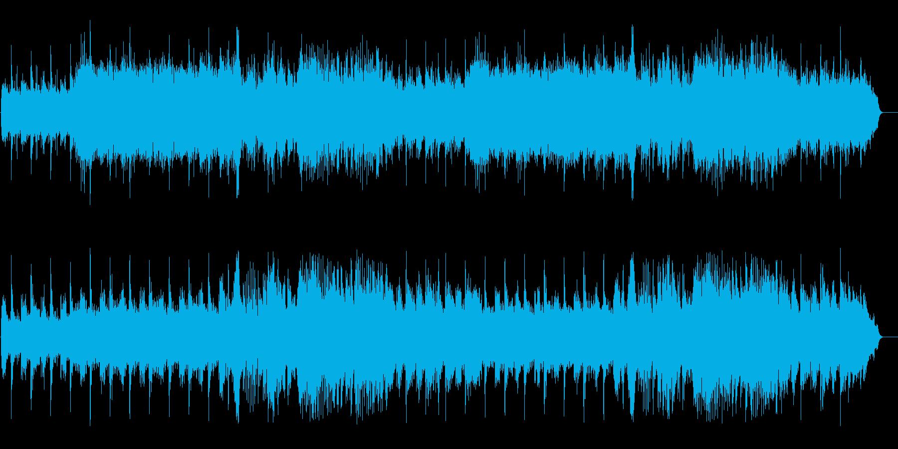 リラクゼーション、クロスフェードの連続の再生済みの波形