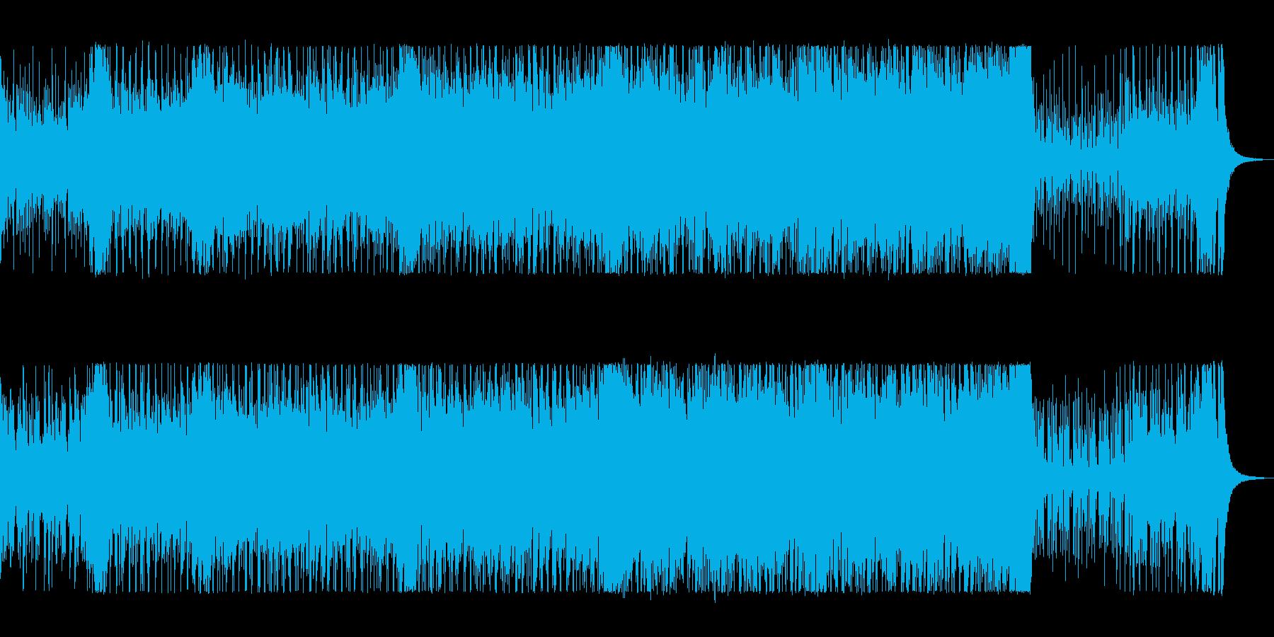 明るく爽やかなポップサウンドの再生済みの波形