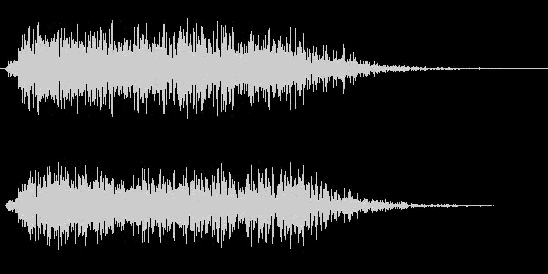フーシューというエアー音の未再生の波形