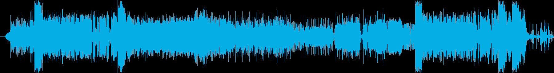 トラッドとロックを連結させたハードロックの再生済みの波形