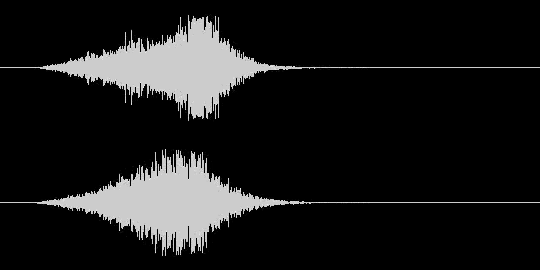 シューン 飛ぶ ビーム シューティングの未再生の波形