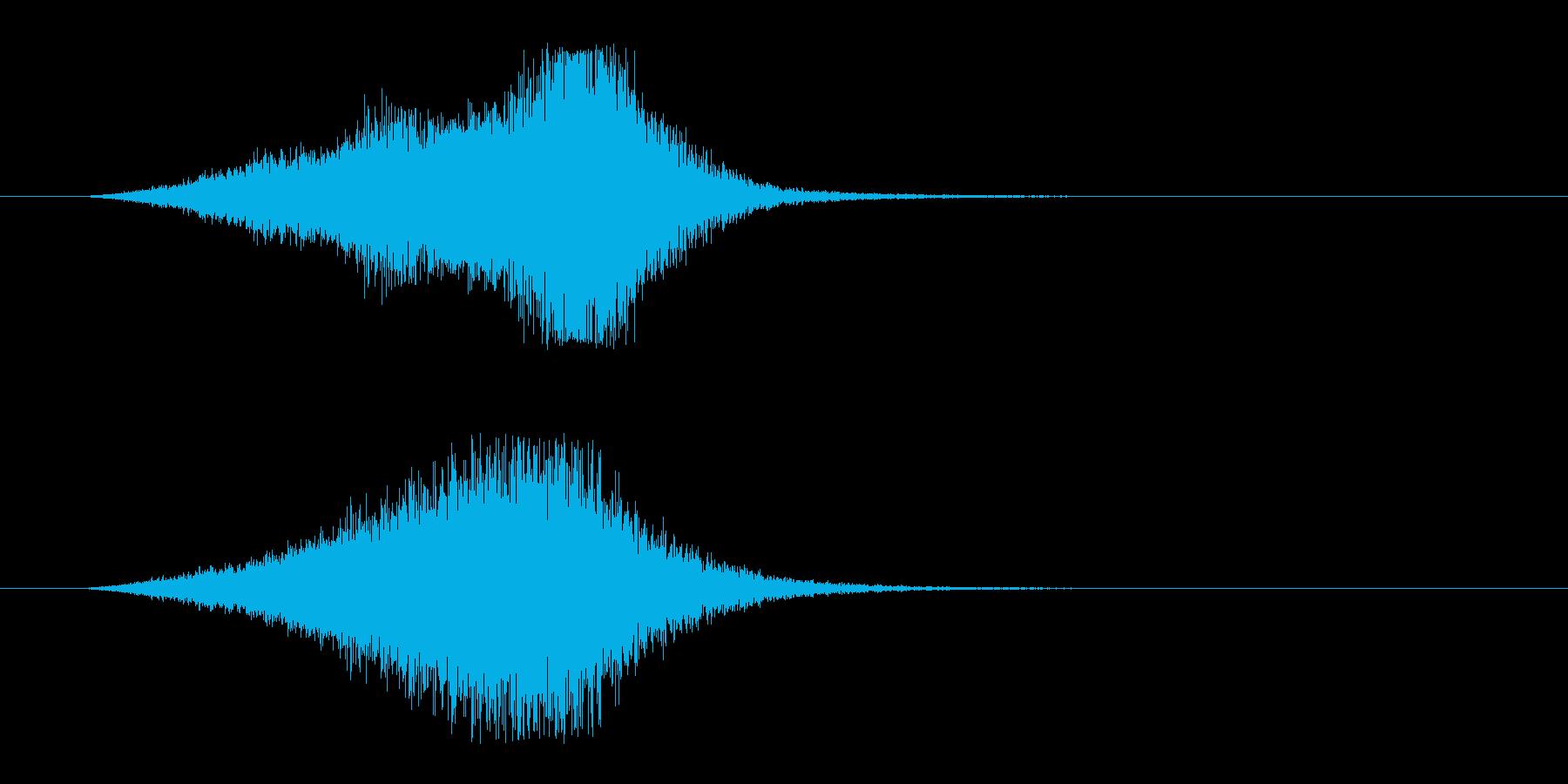 シューン 飛ぶ ビーム シューティングの再生済みの波形