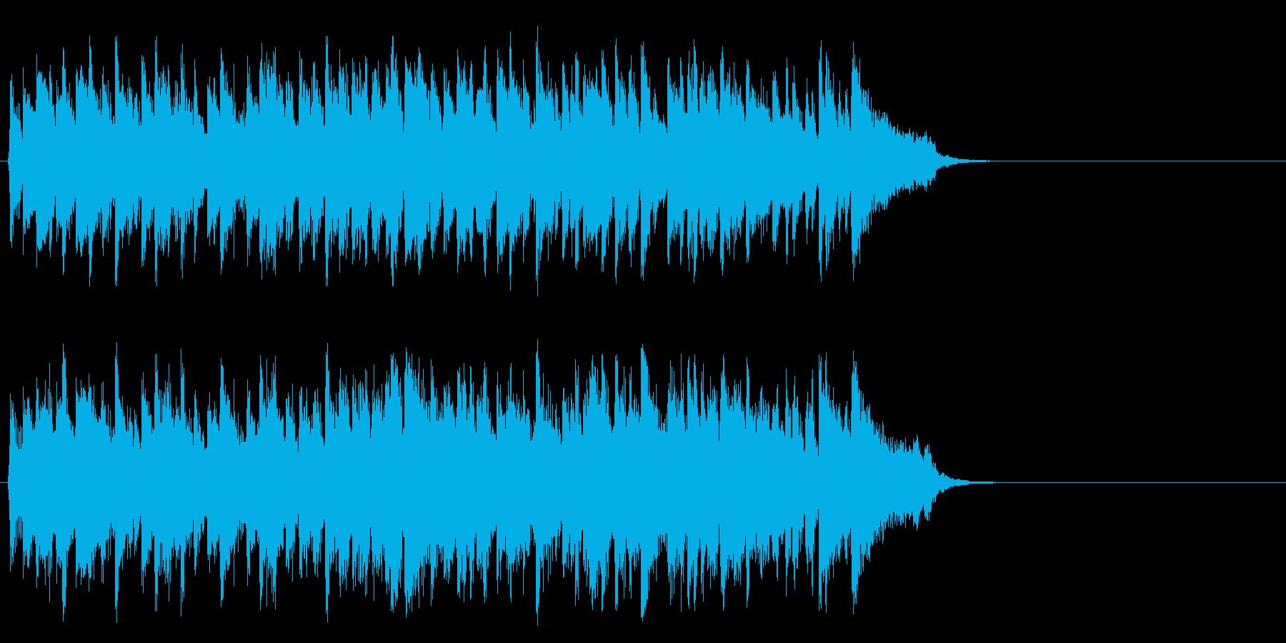 リゾート風のフュージョン(サビ)の再生済みの波形