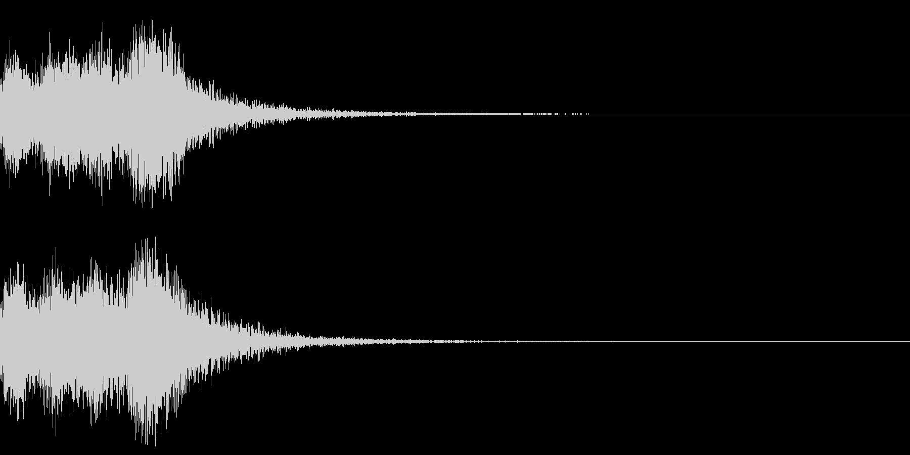 オーケストラヒット ジングル! 03bの未再生の波形