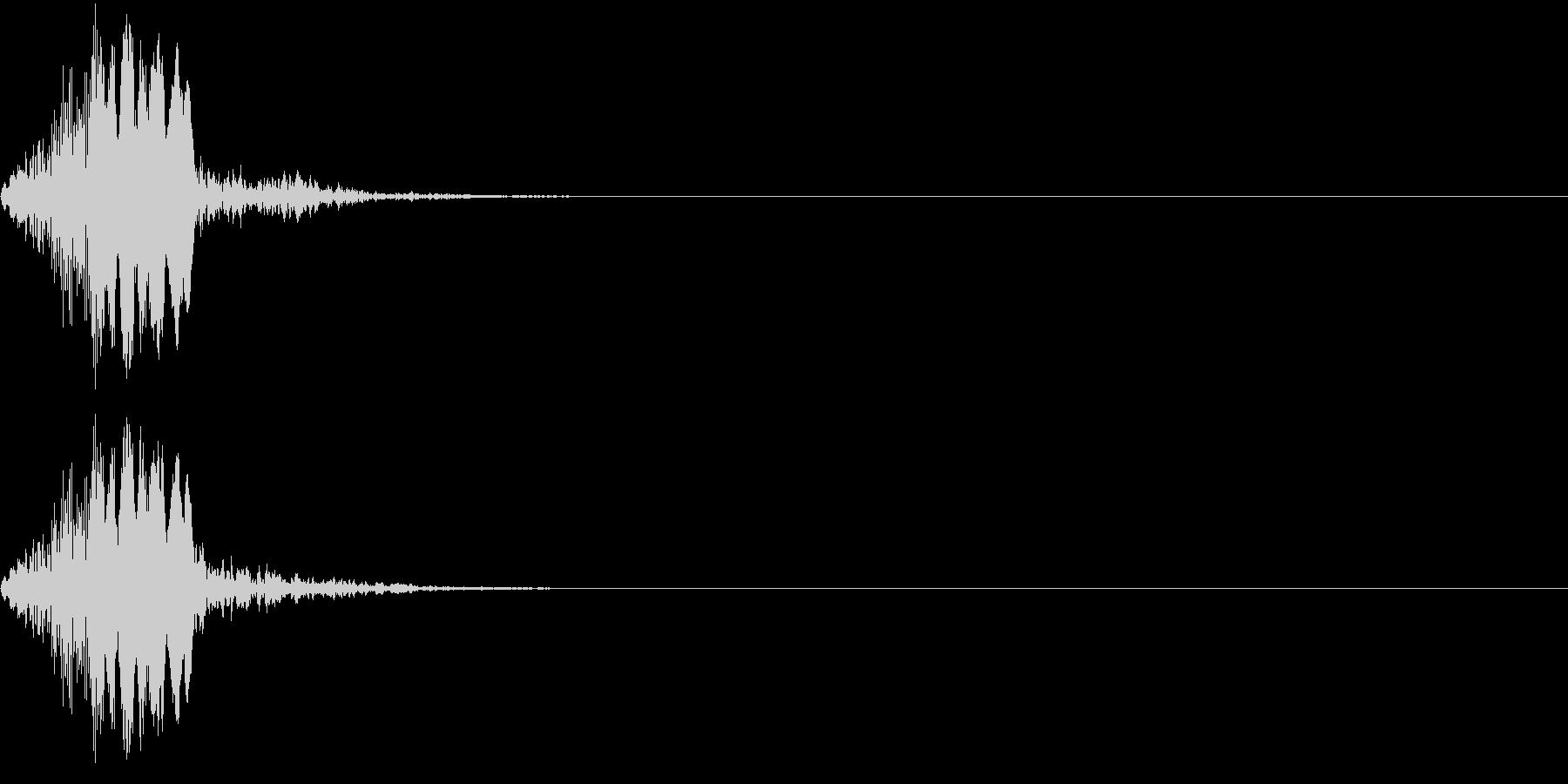 【ピッ】決定・ボタン・カーソル移動の未再生の波形