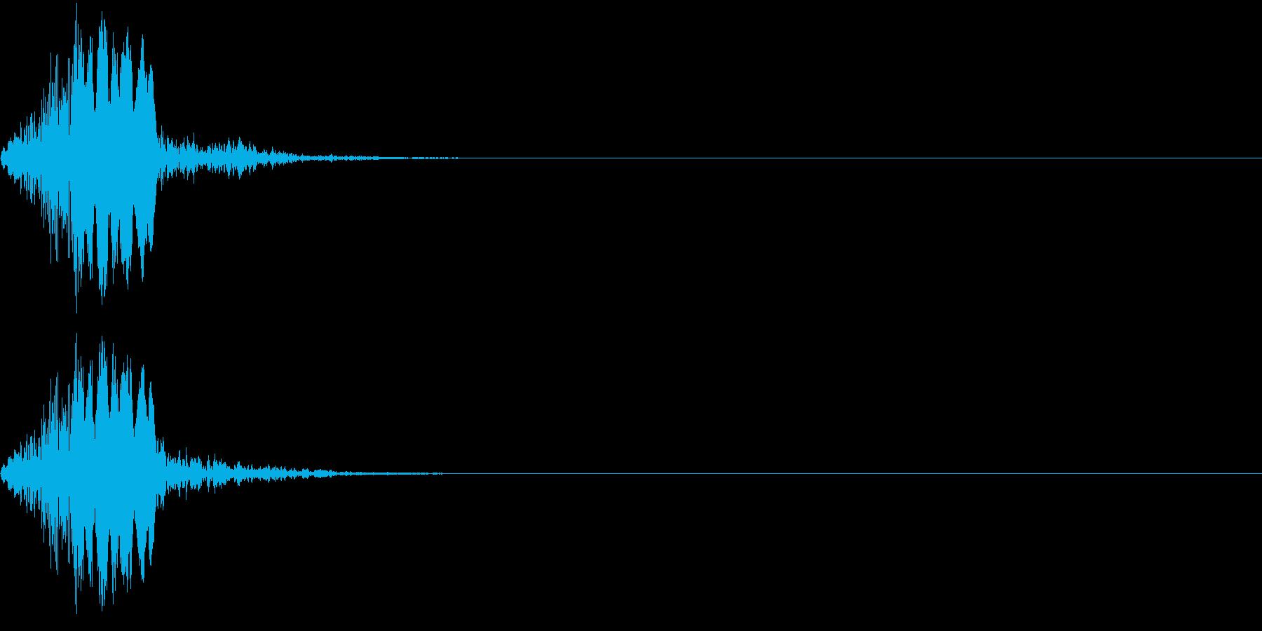 【ピッ】決定・ボタン・カーソル移動の再生済みの波形