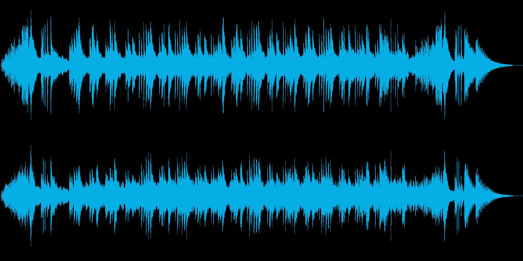 しっとりとしたバラードの再生済みの波形