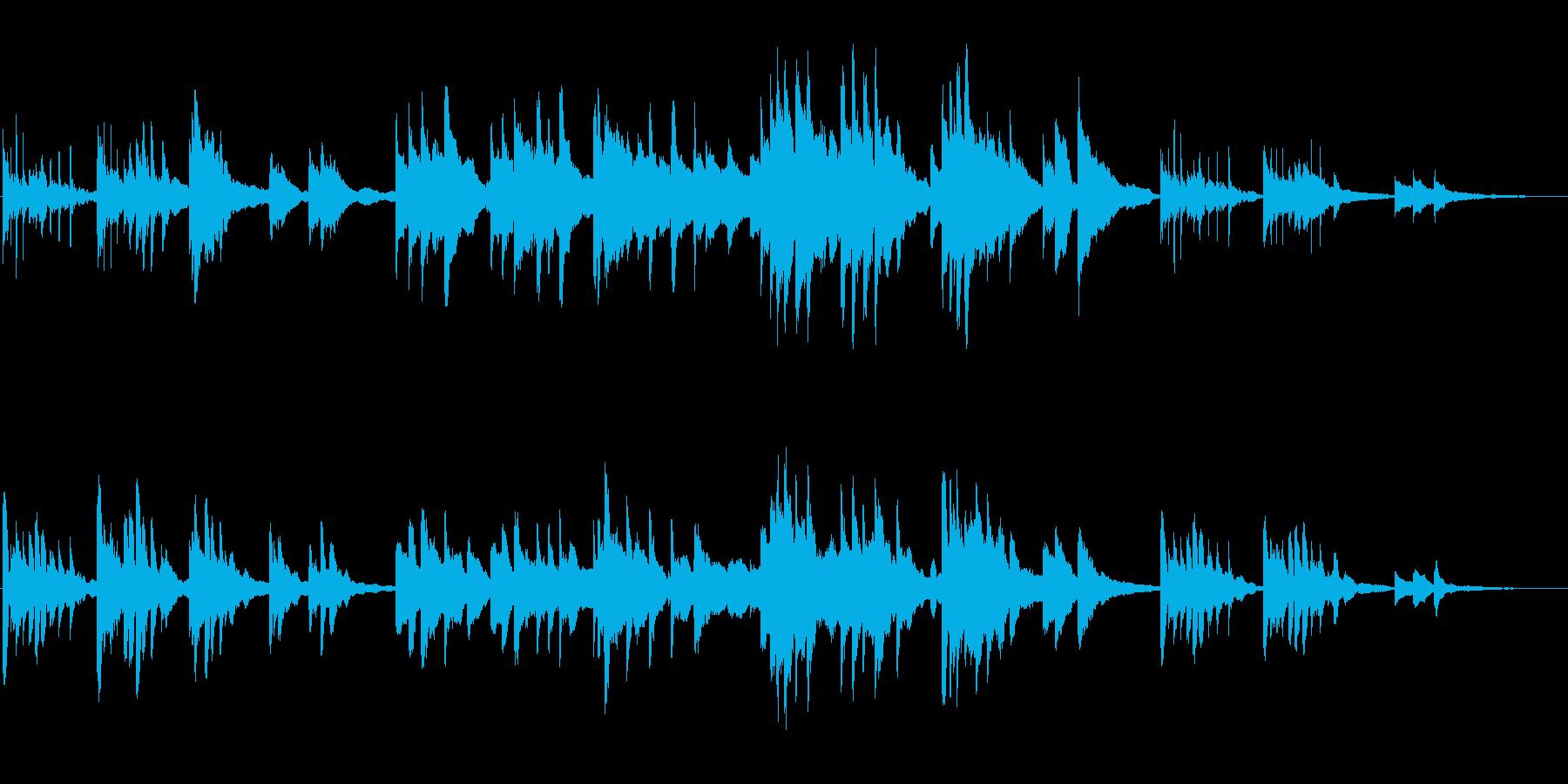涙を呼ぶ、切ない映像向けのピアノソロの再生済みの波形
