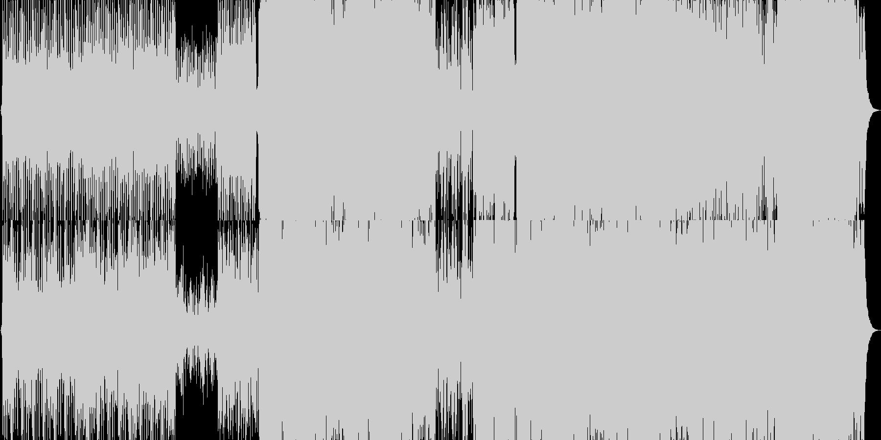 勇敢なオーケストラBGMの未再生の波形
