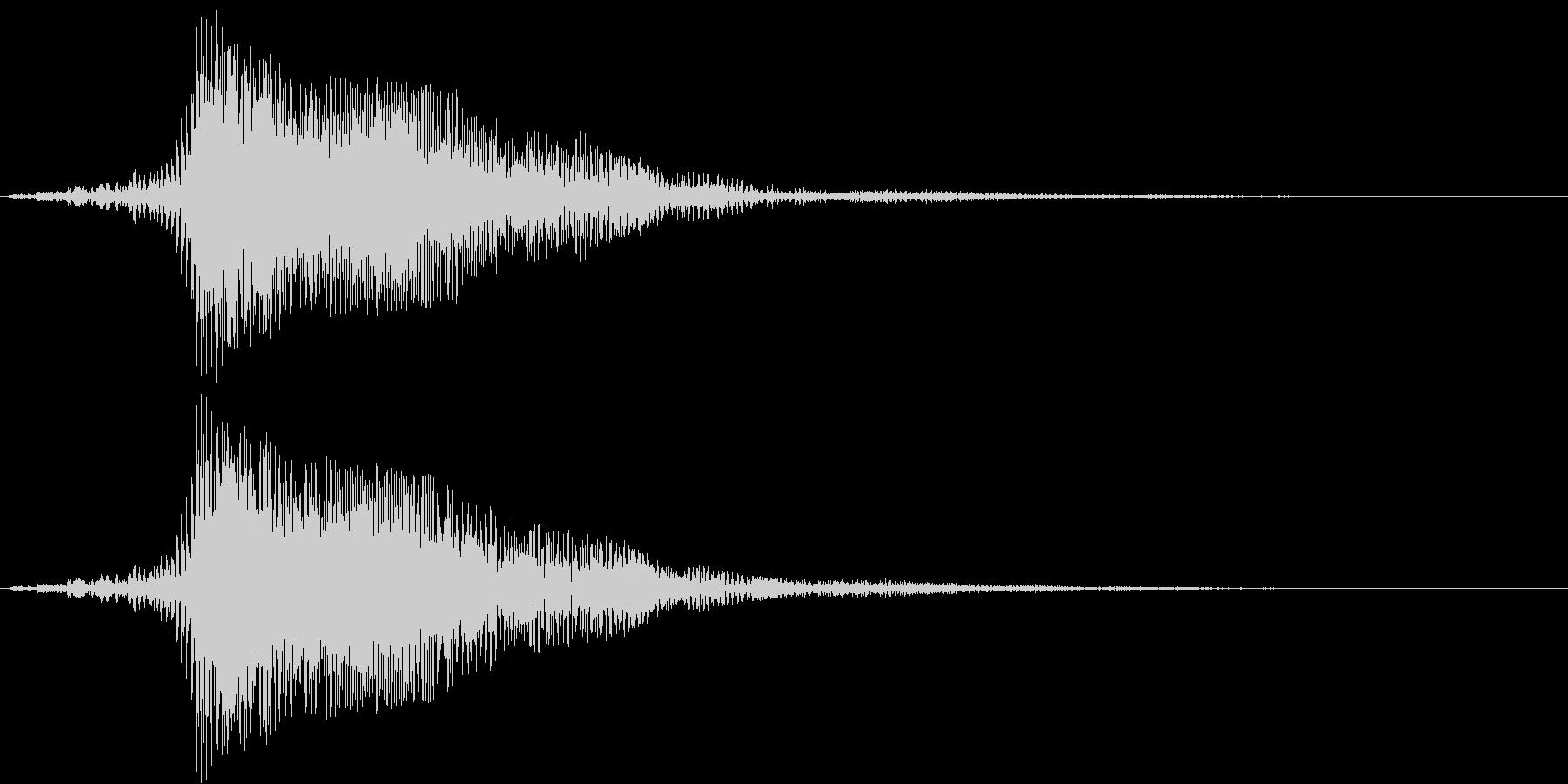 電車のクラクション(大きく鳴らす)の未再生の波形