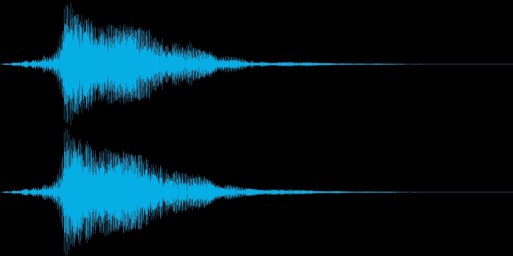 電車のクラクション(大きく鳴らす)の再生済みの波形