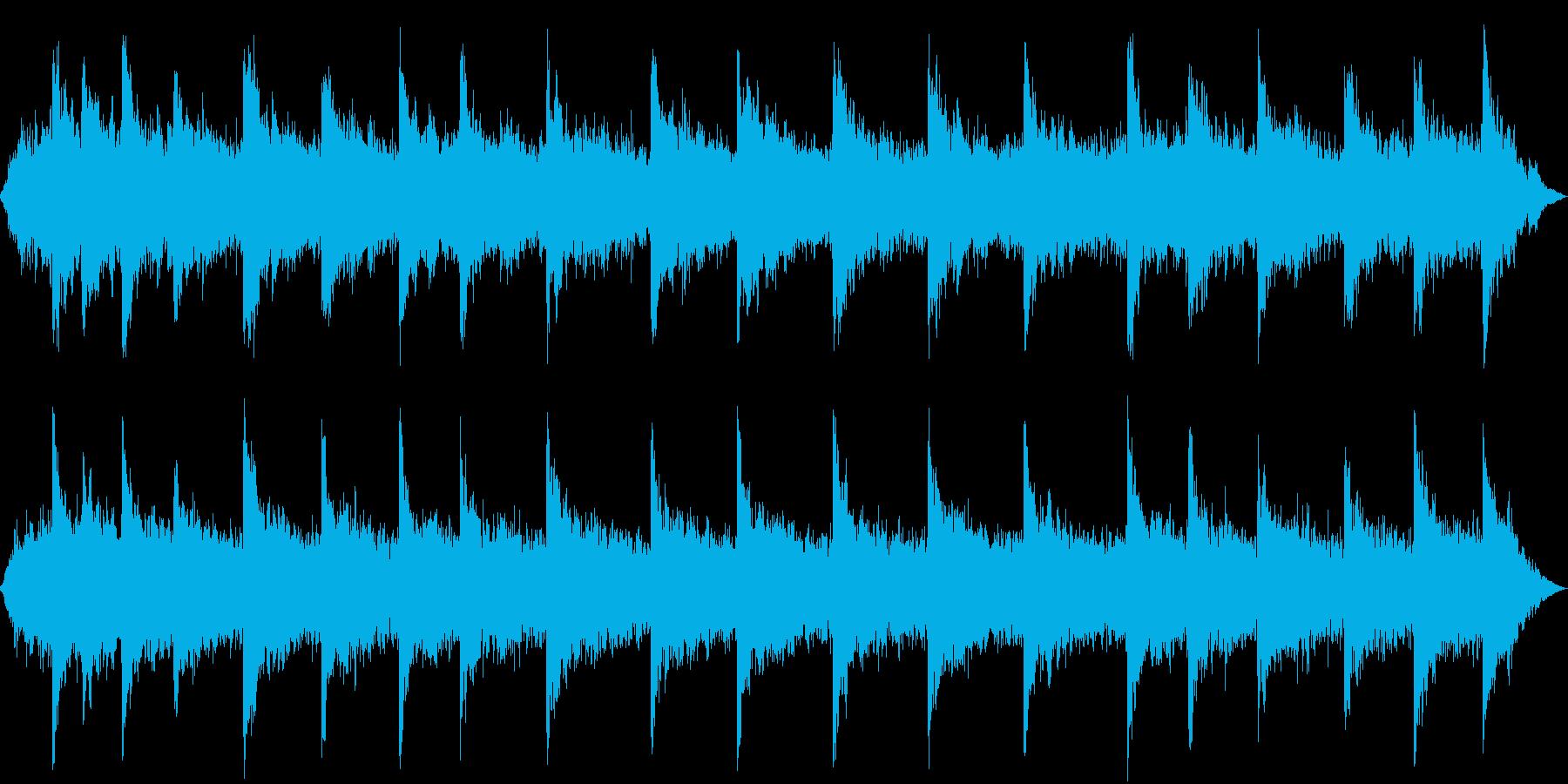 ホラーな背景 不気味な演出 高めの合唱版の再生済みの波形