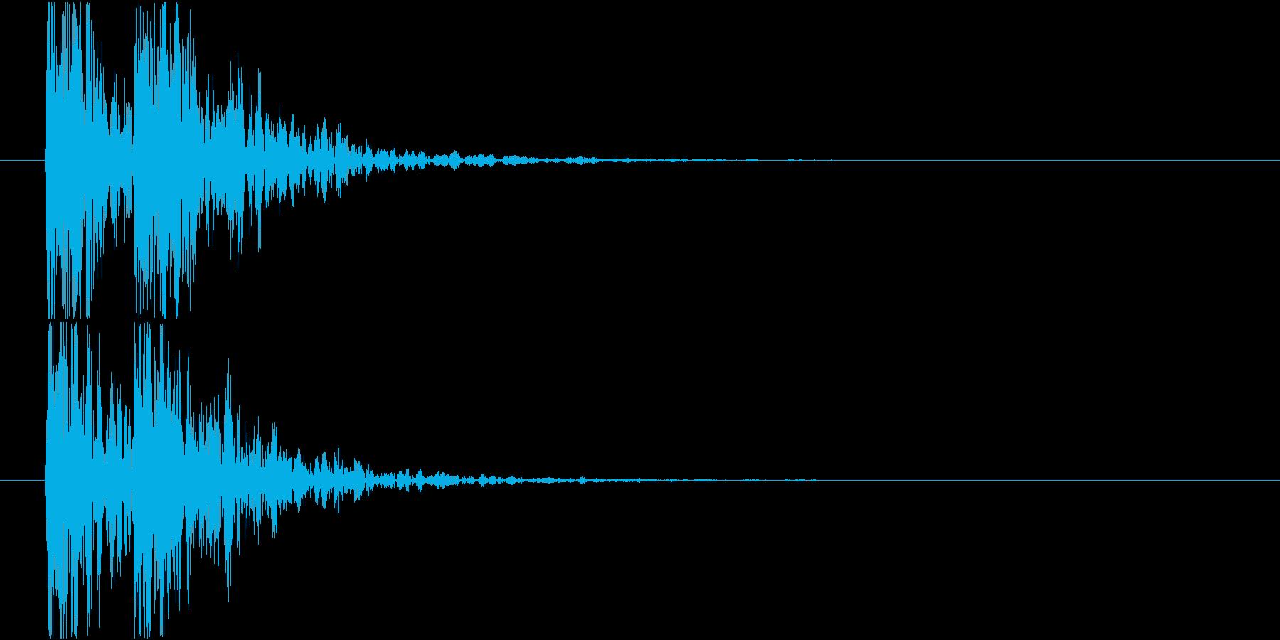 太鼓の音(低音)の再生済みの波形