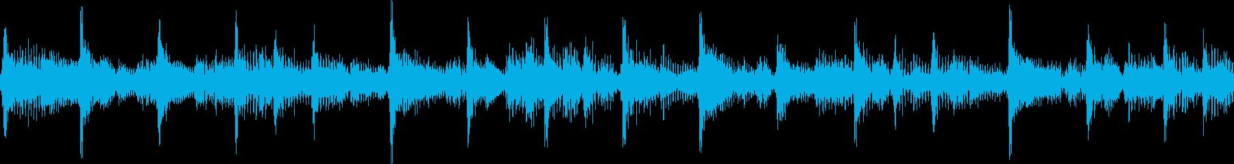 ファンキーで軽快なジングル_ループの再生済みの波形