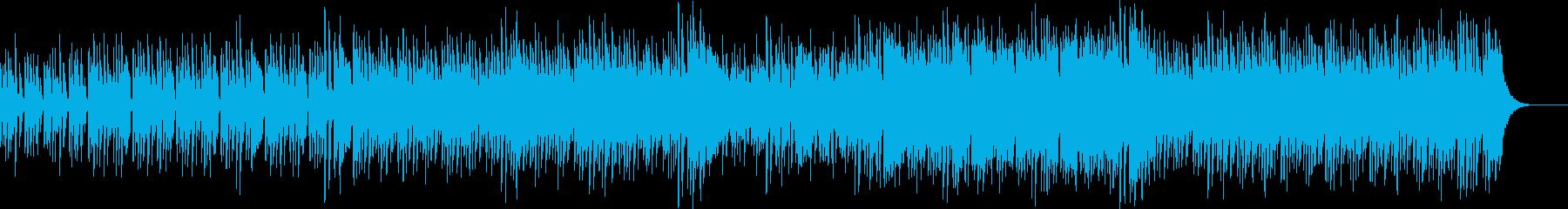 ピアノテクノミュージックの再生済みの波形