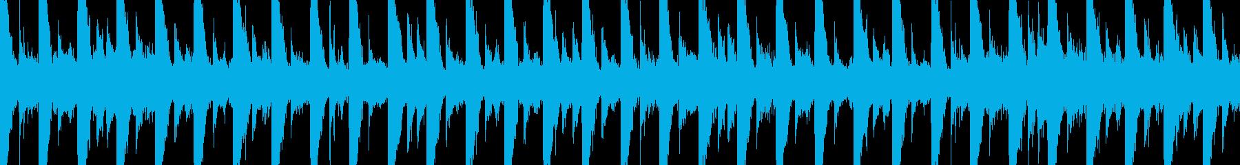 短いループのリザルト風ジングルの再生済みの波形