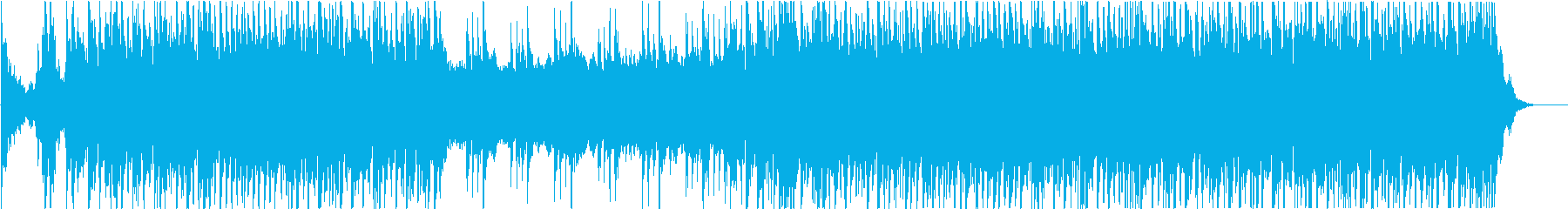 戦闘シーン向けのBGMの再生済みの波形