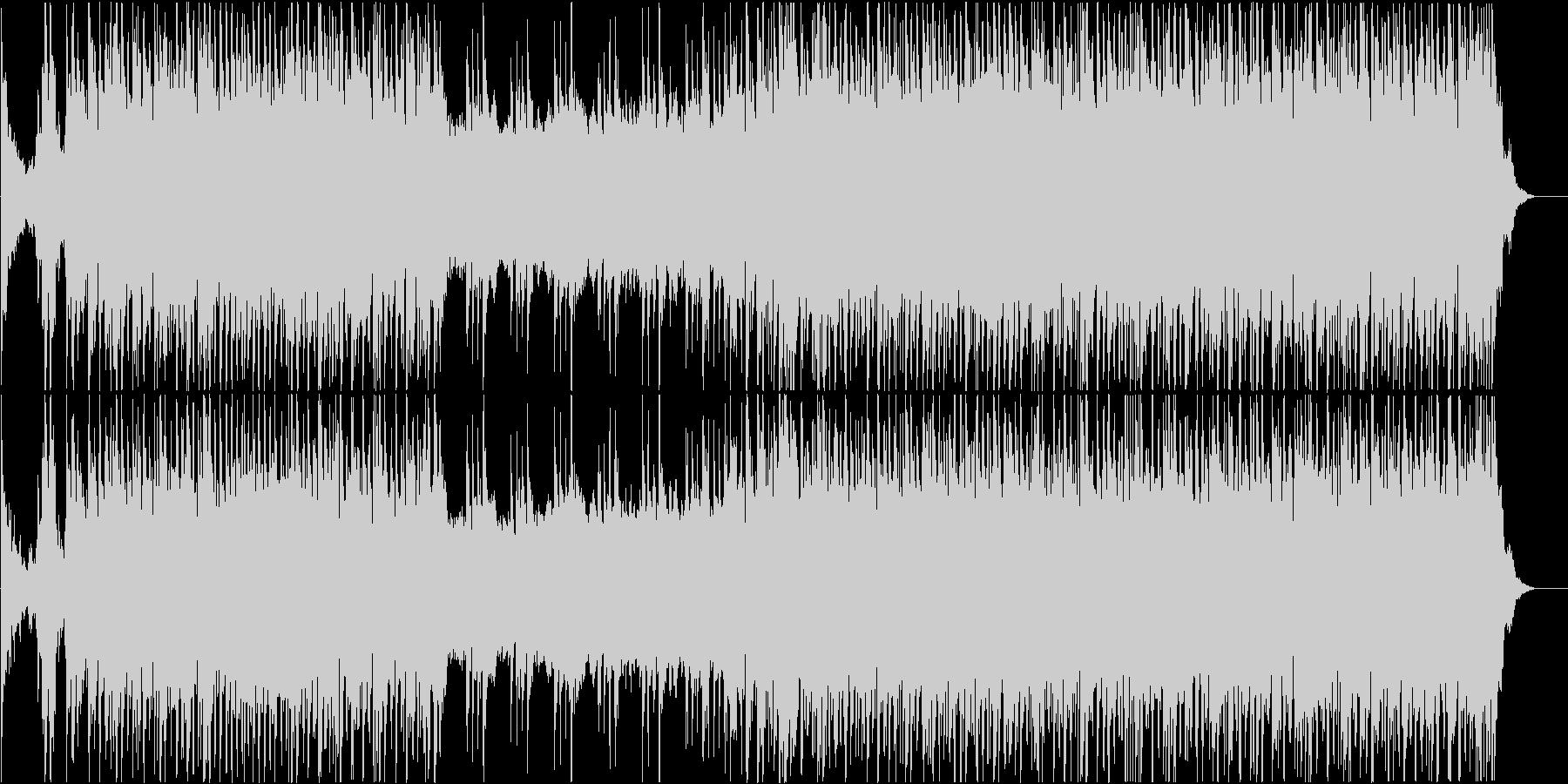 戦闘シーン向けのBGMの未再生の波形