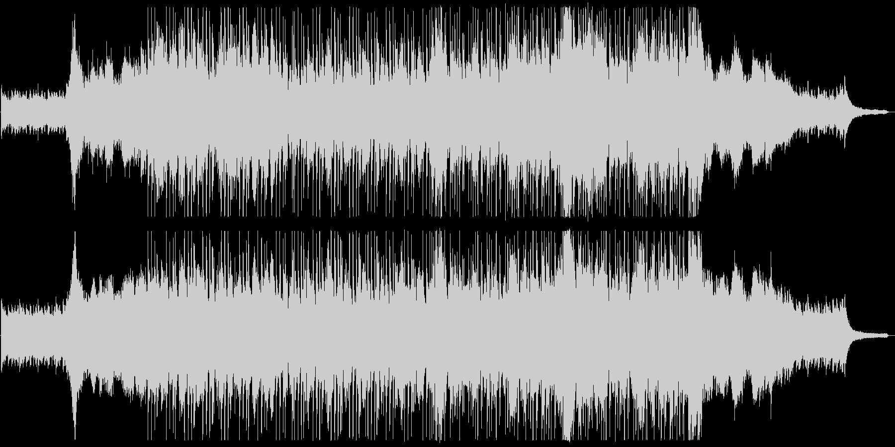 オープニング映像に合う爽やかなピアノ曲の未再生の波形