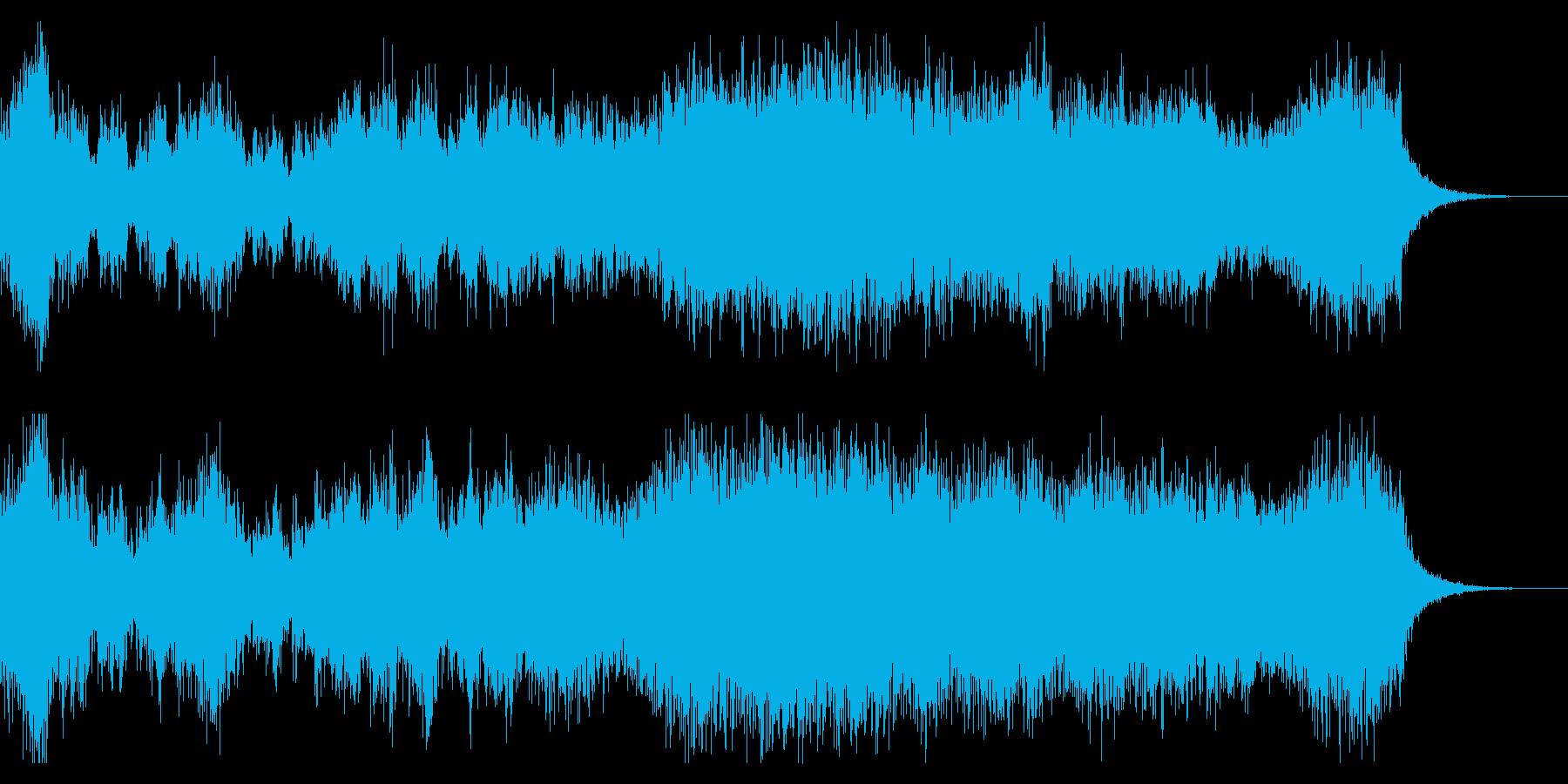 幻想的、ダークで重厚な合唱BGMの再生済みの波形