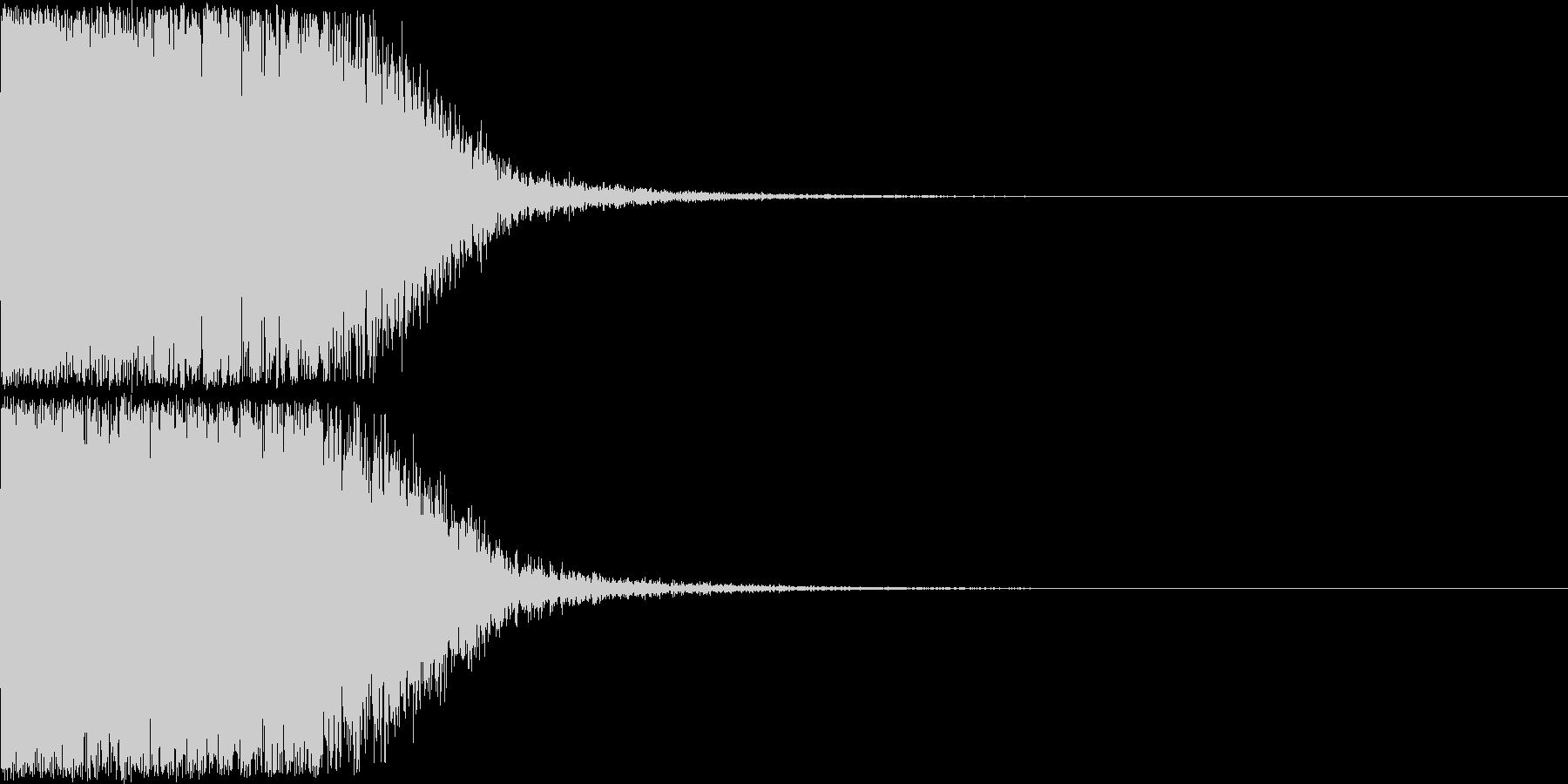 光『きゅいーん』の未再生の波形