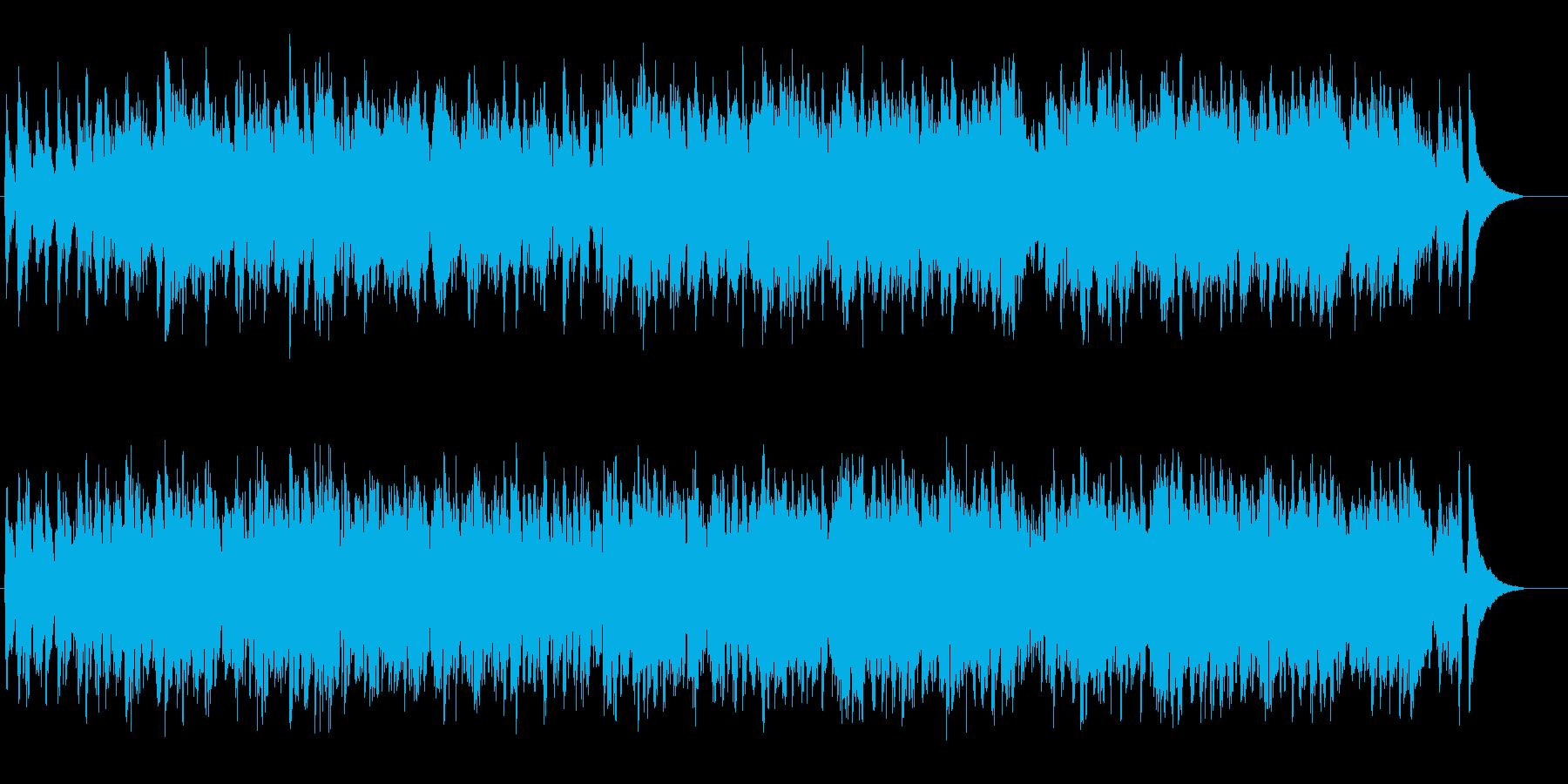 リゾート感覚のボサノバ風ポップスの再生済みの波形