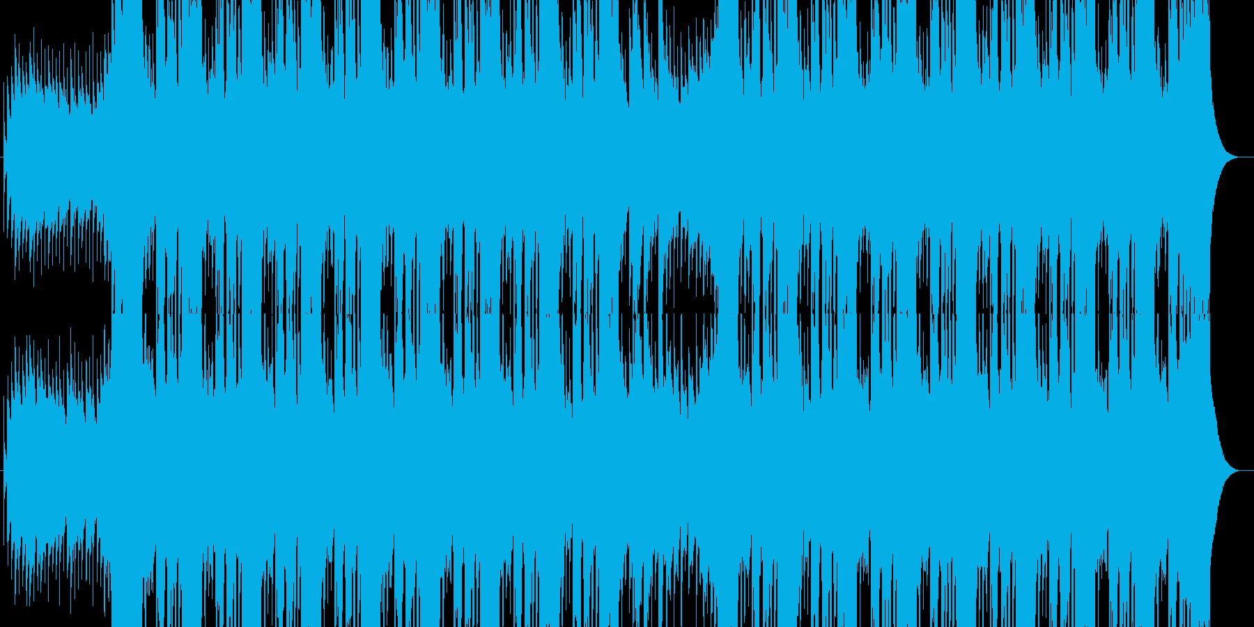 クールなエンディング映像向きギターロックの再生済みの波形