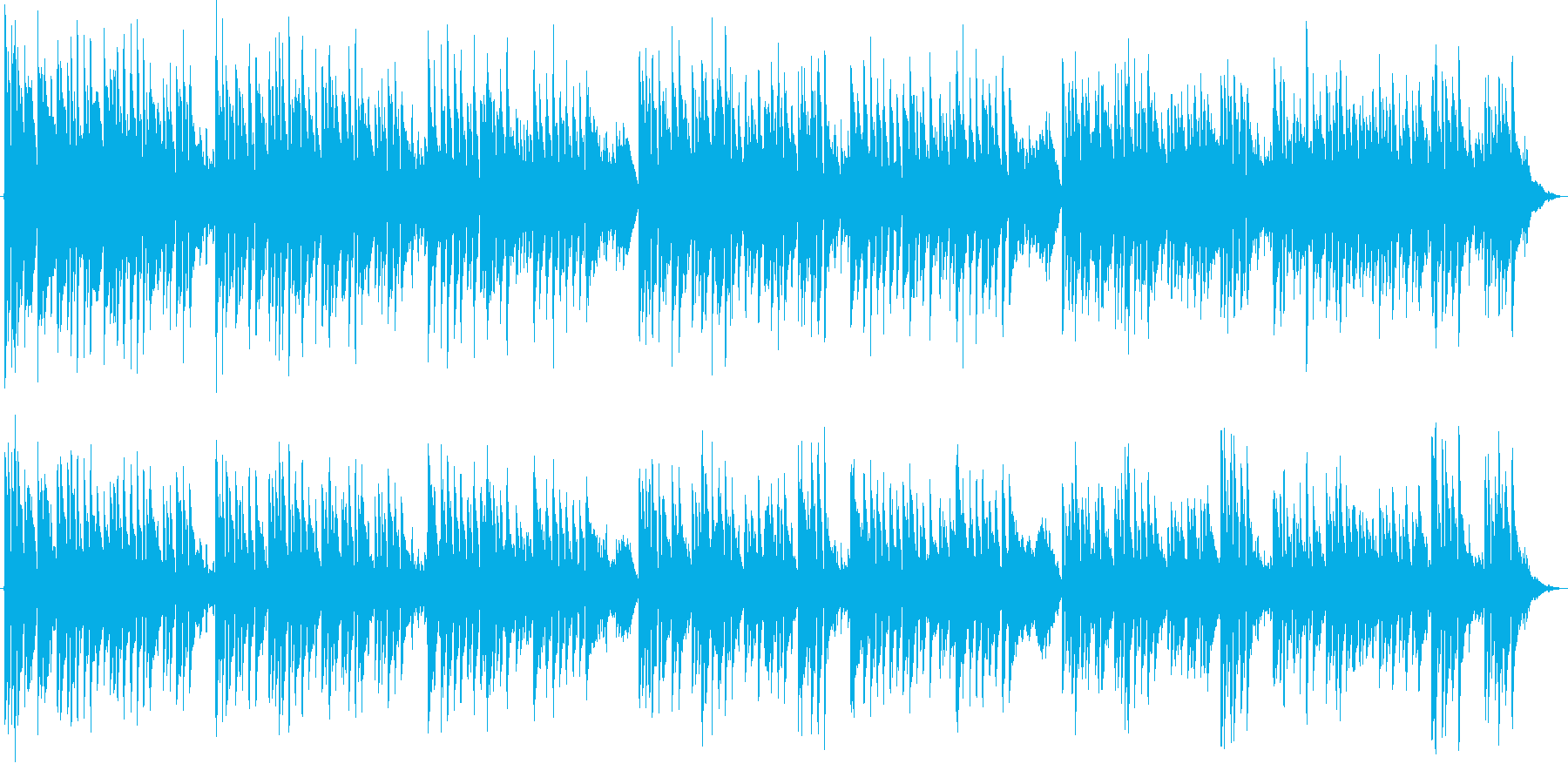 RPG ジブリ系 哀愁マンドリン風アコギの再生済みの波形