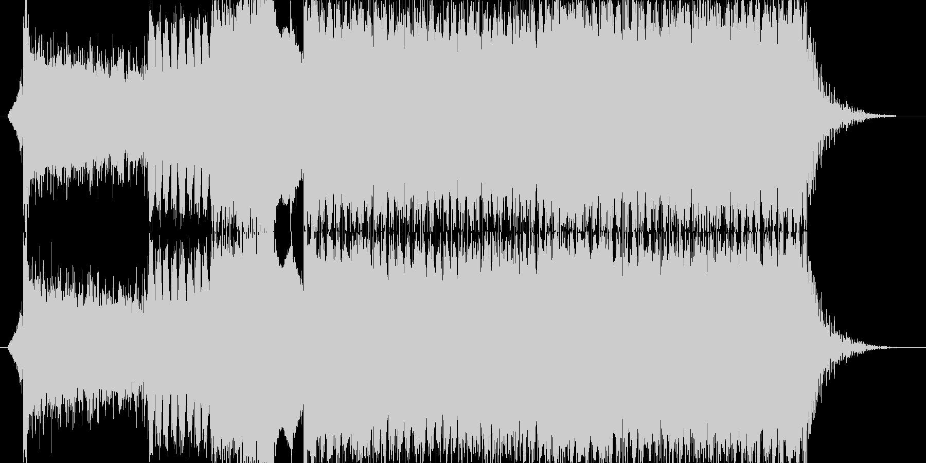 EDM、ロック、ギター、オープニングSEの未再生の波形