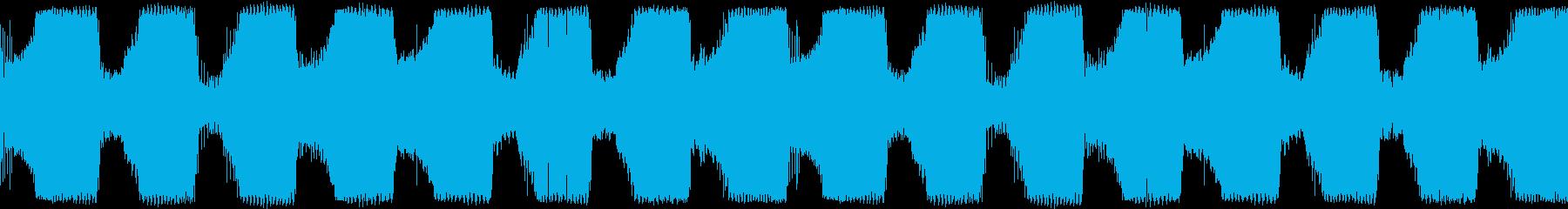 EDM ラウドにうねるベース 音楽制作用の再生済みの波形