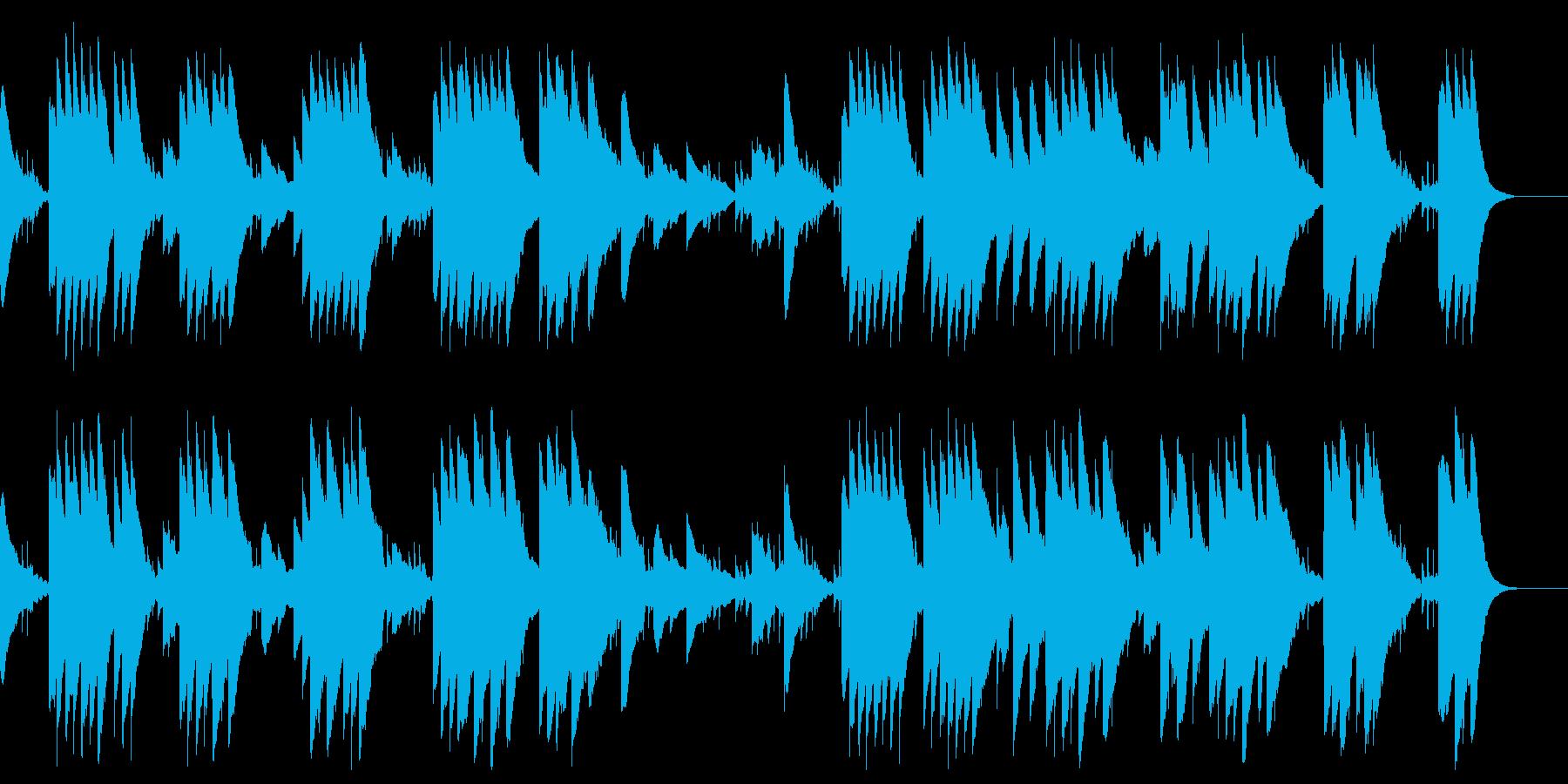 ボレロのオルゴールアレンジの再生済みの波形