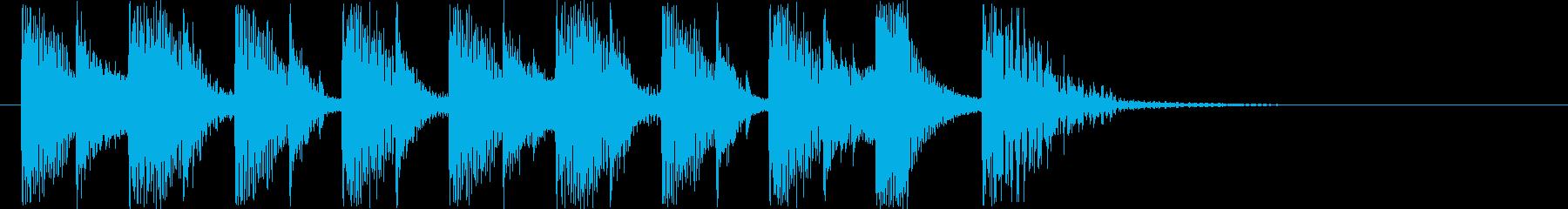 シンセサイザーによるマーチの再生済みの波形