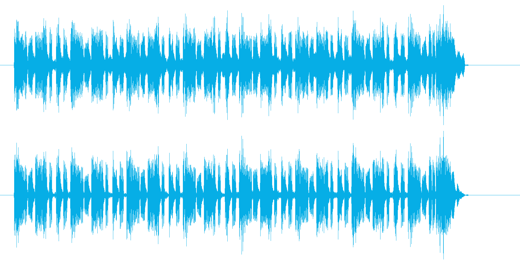 不安をあおるシンキングタイムのジングルの再生済みの波形