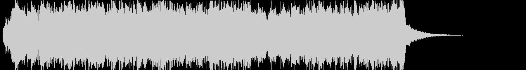 クリスマスの派手なオープニングジングル2の未再生の波形