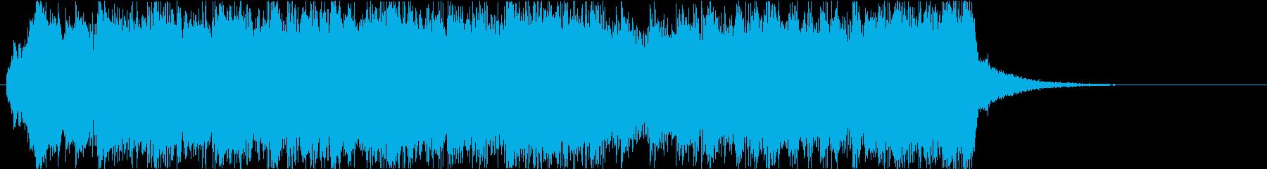 クリスマスの派手なオープニングジングル2の再生済みの波形