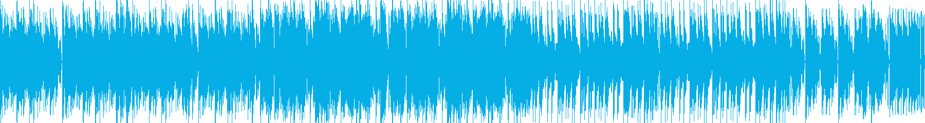 戦闘などに適した高速テンポの緊迫BGMの再生済みの波形