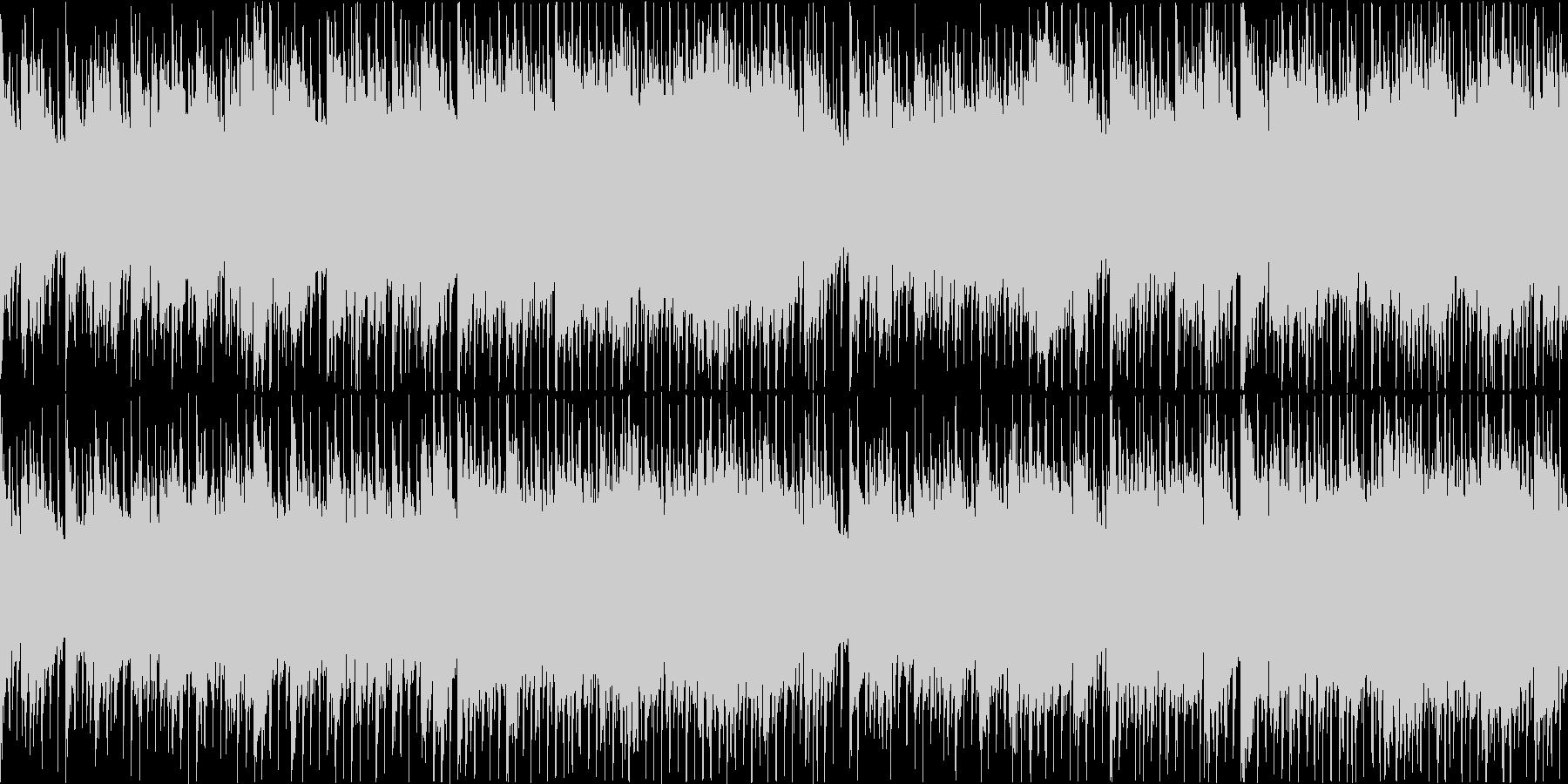 疾走感のあるお洒落なピアノハウスの未再生の波形