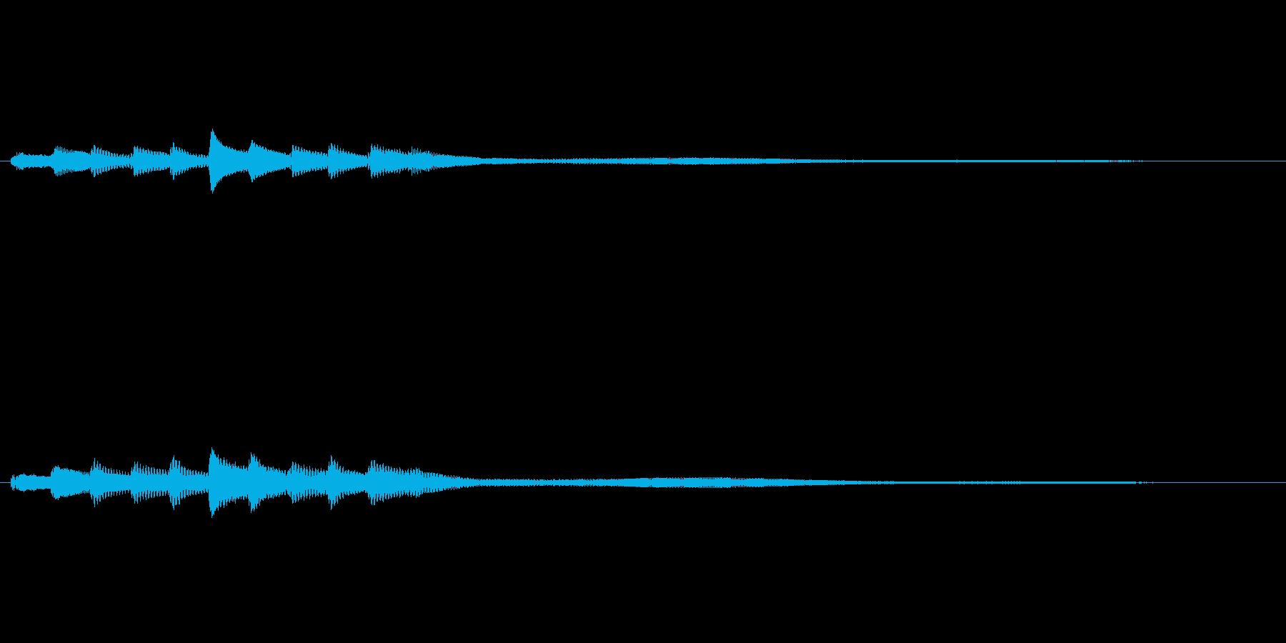 ピアノのアルペジオ演奏による起動音の再生済みの波形