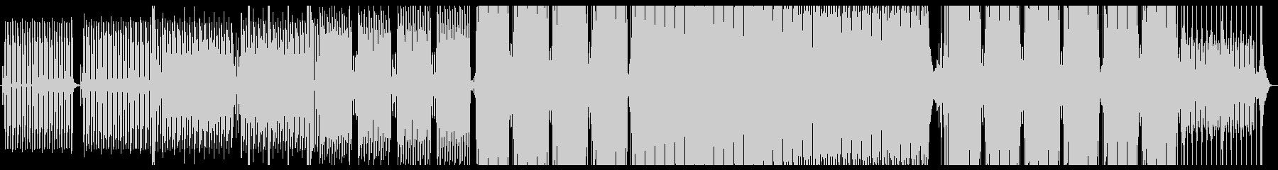 ホラー的な雰囲気のテクノの未再生の波形