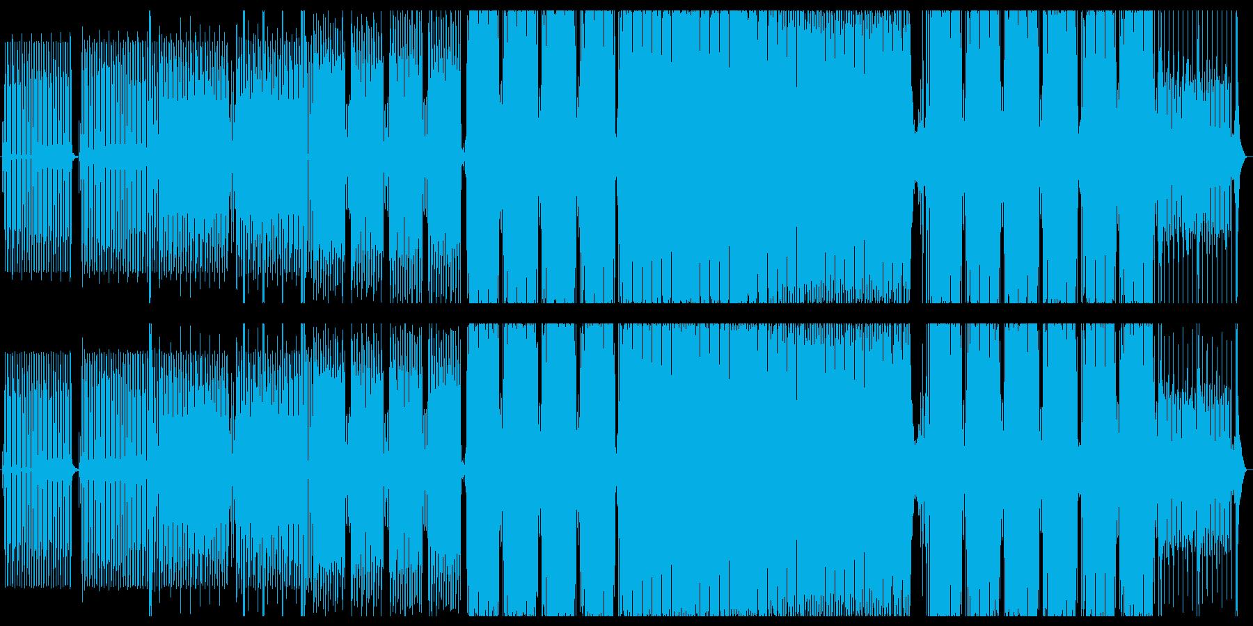 ホラー的な雰囲気のテクノの再生済みの波形