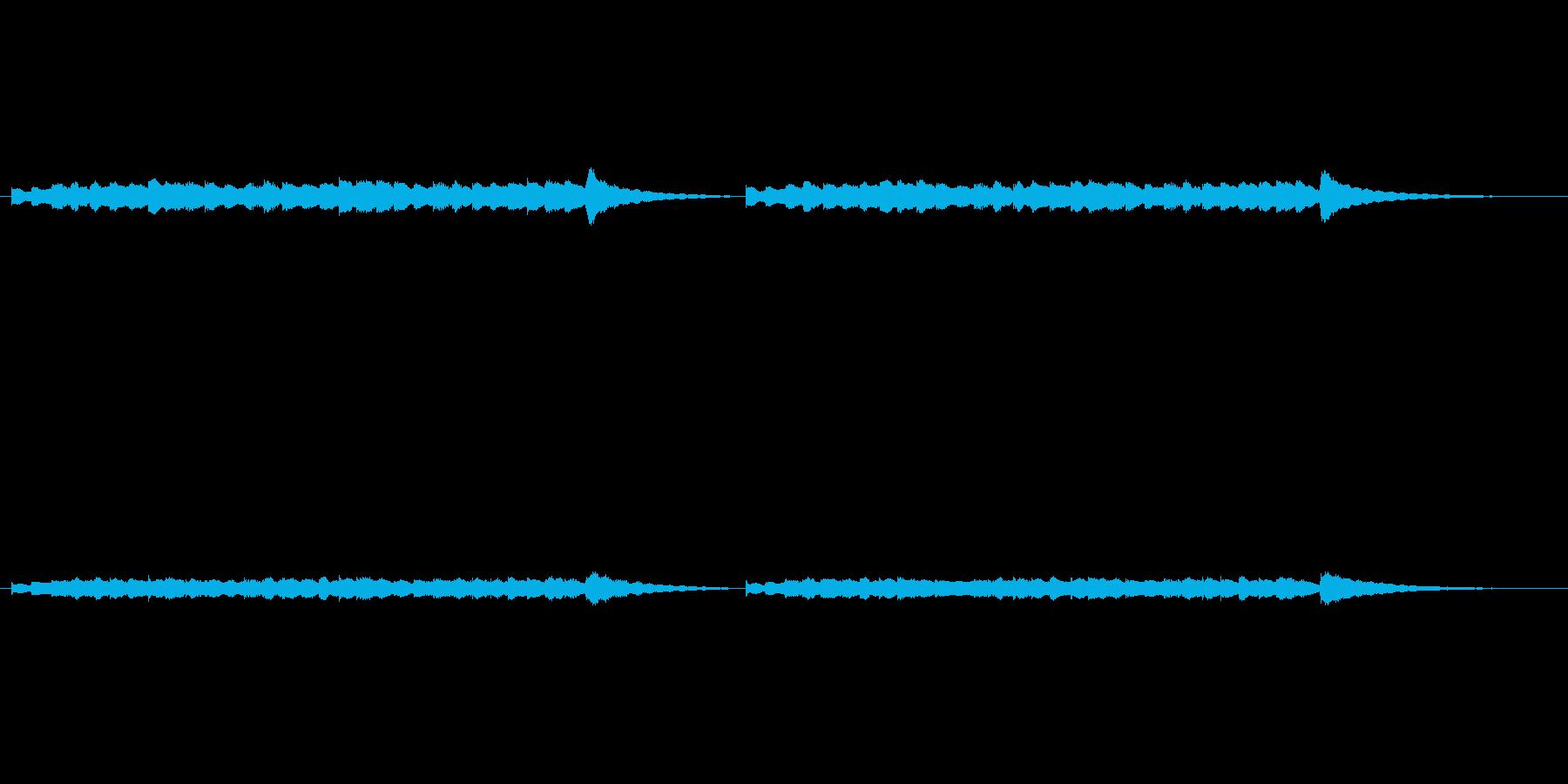 開演前のチャイム音の再生済みの波形