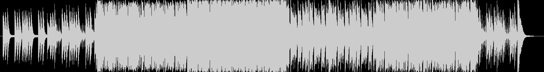 オープニング風の楽しいBGMの未再生の波形