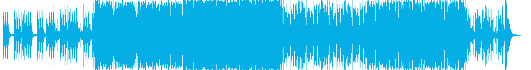 オープニング風の楽しいBGMの再生済みの波形