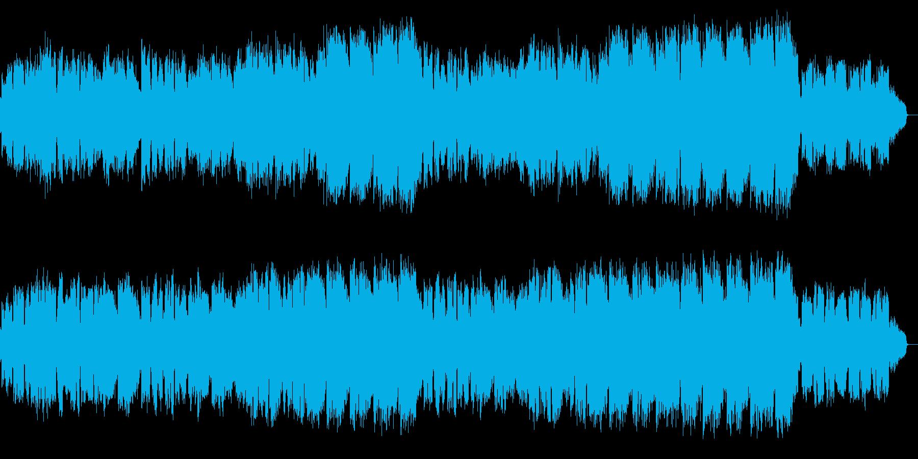 清清しい夜明けに癒されるメロディアス楽曲の再生済みの波形
