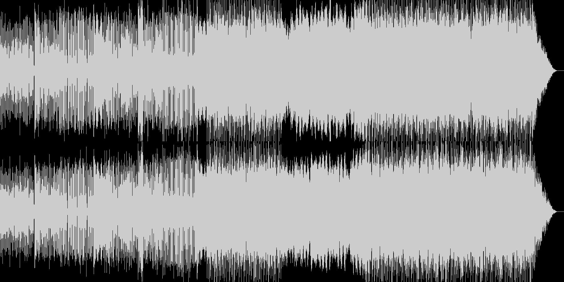 クラリネットがリードの落ち着いたポップの未再生の波形