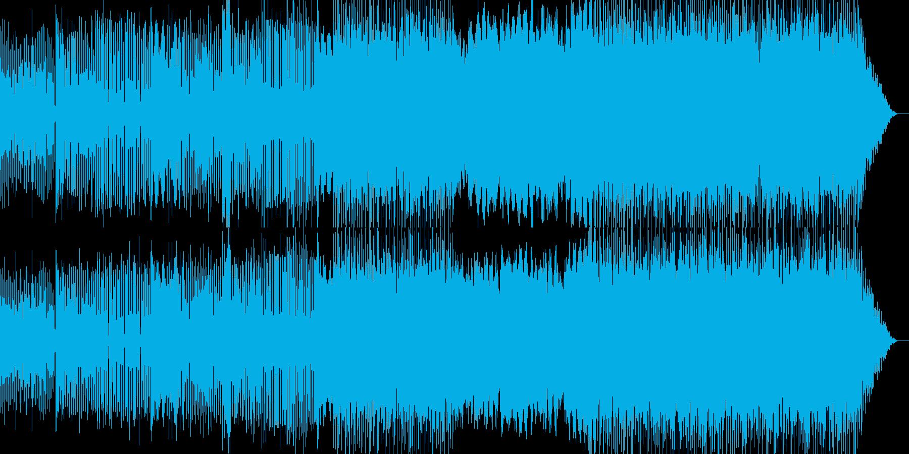 クラリネットがリードの落ち着いたポップの再生済みの波形