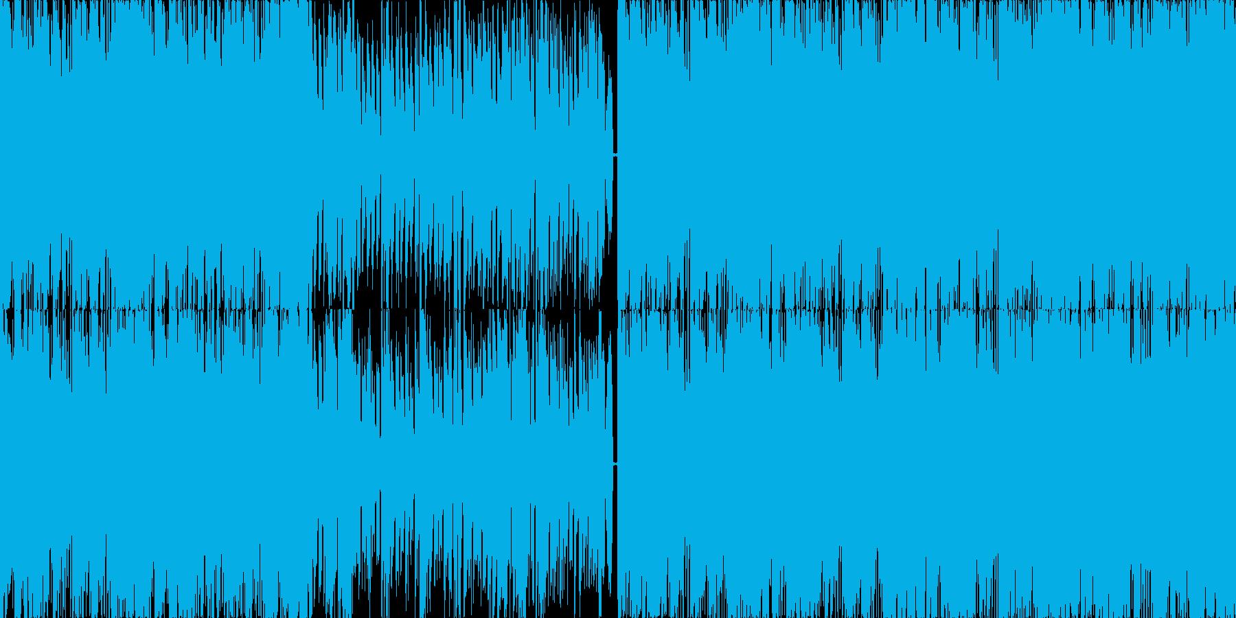 【ループ対応】テクノポップなダンス曲の再生済みの波形