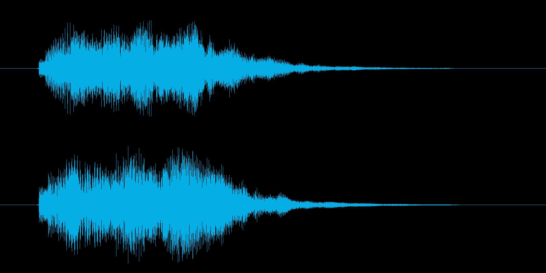 ピロピロピロリン(チャイムの音)の再生済みの波形