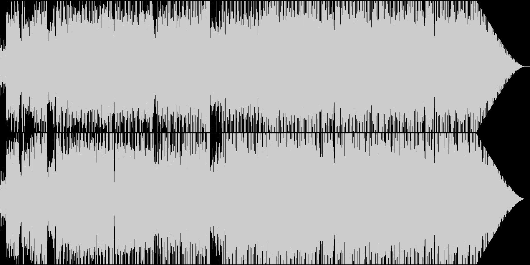 疾走感のあるダンスロックチューンの未再生の波形