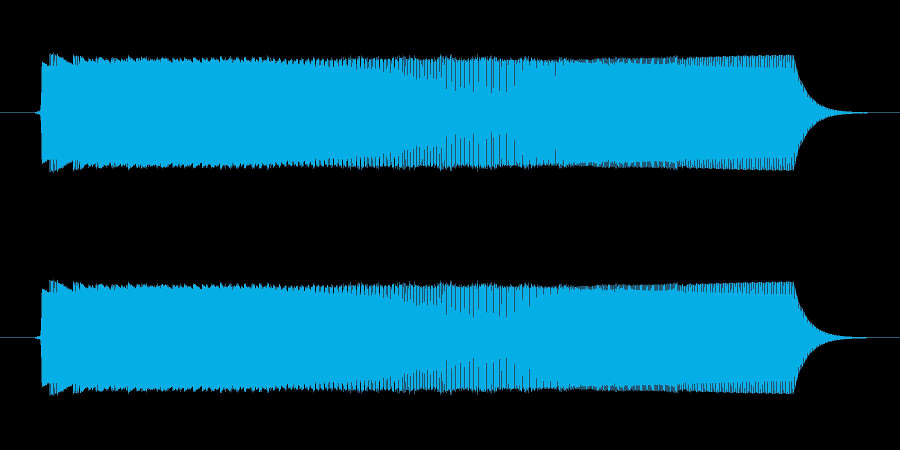ゲームの決定音(1)ですの再生済みの波形